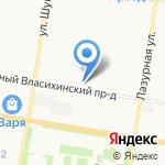 ЖСК 166 на карте Барнаула