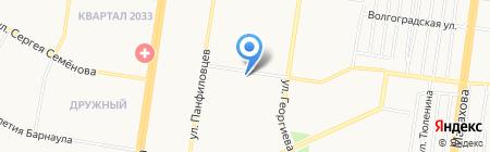 Лазурный берег на карте Барнаула
