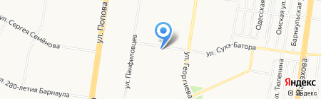 Золотая рыбка на карте Барнаула
