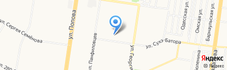 Средняя общеобразовательная школа №81 на карте Барнаула