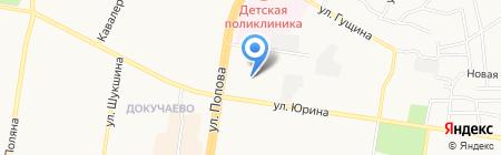 Детский сад №212 на карте Барнаула