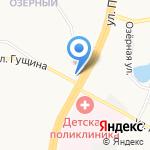 Линза на карте Барнаула
