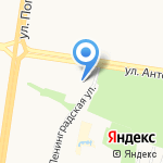 Буквица на карте Барнаула