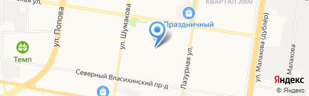 Средняя общеобразовательная школа №128 на карте Барнаула