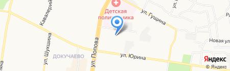 Лукоморье на карте Барнаула
