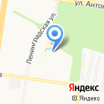 Льдинка на карте Барнаула