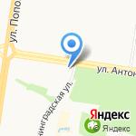 Ариадна на карте Барнаула