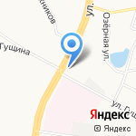 Мотор на карте Барнаула