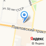 Магазин спортивного инвентаря на карте Барнаула