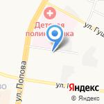 Городская поликлиника №11 на карте Барнаула
