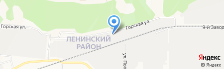 Столярная мастерская Баженовых на карте Барнаула