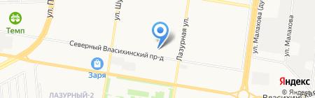 Элен на карте Барнаула
