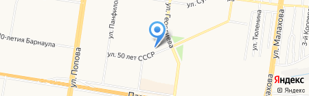 Сеть магазинов нижнего белья на карте Барнаула