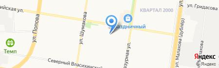 Гелион на карте Барнаула