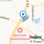 Киоск по продаже автомасел на карте Барнаула