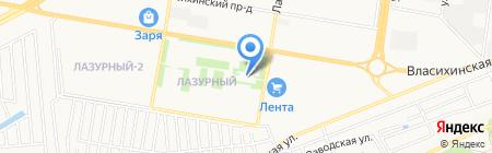 Пирамида на карте Барнаула