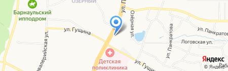Милена на карте Барнаула