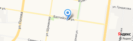 ЮШЭН на карте Барнаула
