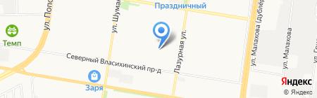 Лазурная 40 на карте Барнаула