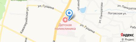 Краевая детская поликлиника на карте Барнаула