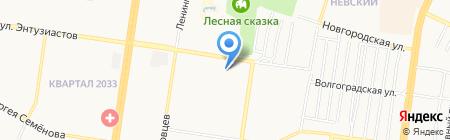 ВАВИЛОН-недвижимость на карте Барнаула