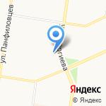 Комитет по развитию предпринимательства и потребительскому рынку Администрации Индустриального района на карте Барнаула