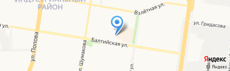 Сибирикс на карте Барнаула