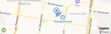 Алтайская Недвижимость на карте Барнаула