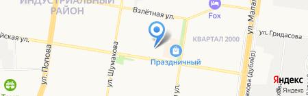 Школа русской словесности на карте Барнаула