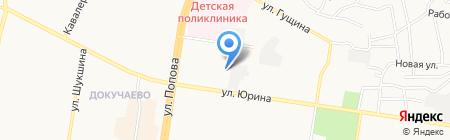 Диамант на карте Барнаула