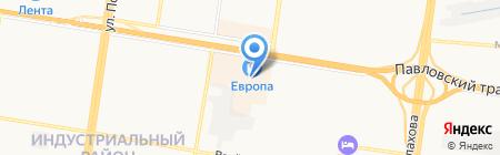 Гжель на карте Барнаула