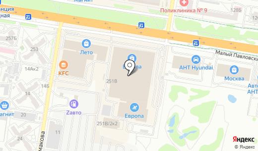 Waggon Paris. Схема проезда в Барнауле