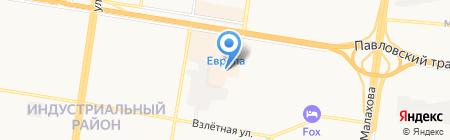 Первая Чайная на карте Барнаула
