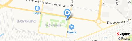 Мистер Кот на карте Барнаула
