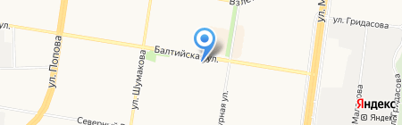 Ломбард Кредит-Мастер на карте Барнаула