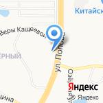 Кирби на карте Барнаула