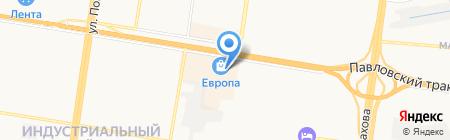 Штуки на карте Барнаула