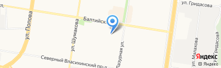 Прозапас на карте Барнаула