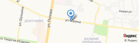 Орлан на карте Барнаула