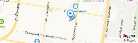 Б на карте Барнаула