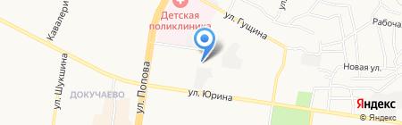 Детская художественная школа №2 на карте Барнаула