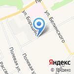 Плюшка на карте Барнаула