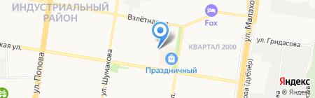 Шиномонтажная мастерская на карте Барнаула