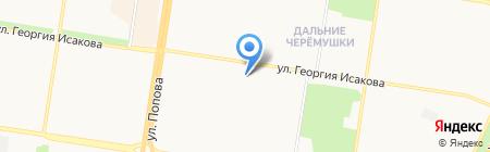 Автодрайв на карте Барнаула