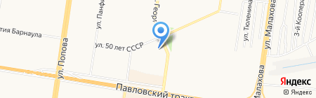 Компас на карте Барнаула