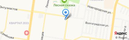 Хмельной муравейник на карте Барнаула