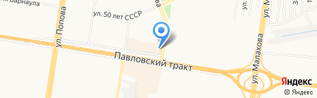 Точка на карте Барнаула