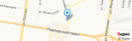 Сольвейг МТ на карте Барнаула