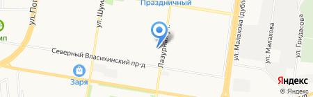 Greenwich на карте Барнаула
