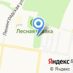 Киоск по продаже мороженого на карте Барнаула